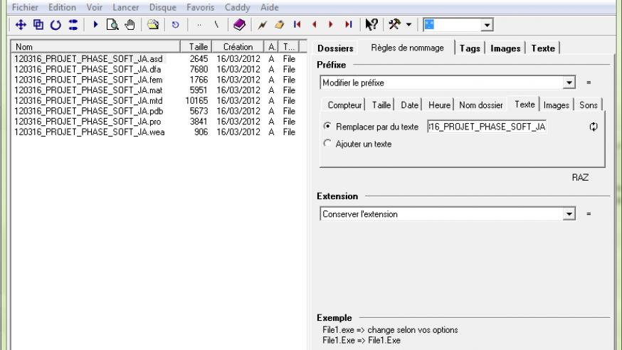 THE Rename: renommer plusieurs fichiers d'un coup