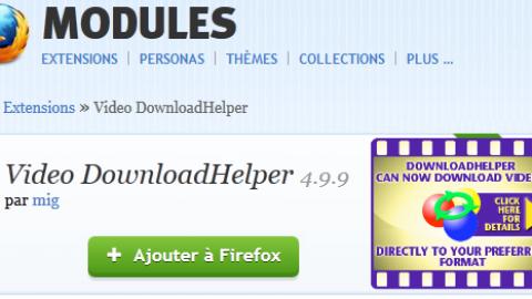 Video DownloadHelper: Extraire des vidéos d'un site Internet