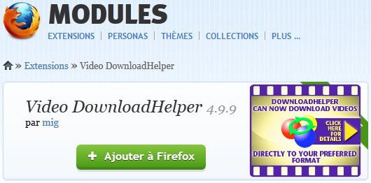 Photo of Video DownloadHelper: Extraire des vidéos d'un site Internet