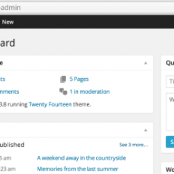 WordPress 3.8 : Resoudre le bug de navigation dans l'interface administration
