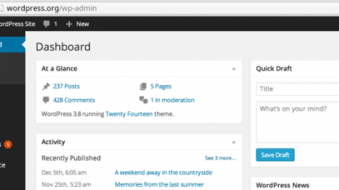 WordPress 3.8 : Resoudre le bug de navigation dans l'interface administration