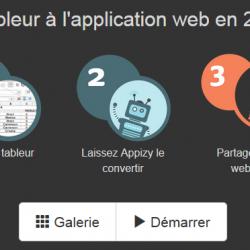 Appizy: Générer des applications web dynamiques à partir de tableur Excel ou OpenDocument