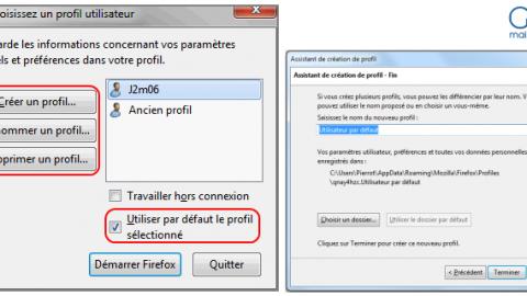 Gestionnaire de profils: créer plusieurs profils utilisateurs sur Firefox
