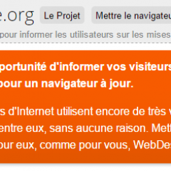 Browser Update: une notification de compatibilité des navigateurs pour votre site web