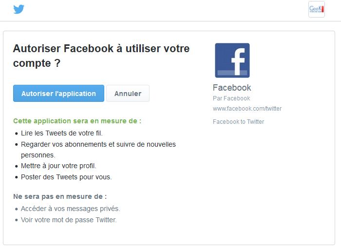 Astuce Lier Facebook Et Twitter Pour Des Publications Simultanées