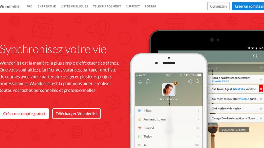 Wunderlist: créer des listes de tâches collaboratives accessibles sur le Web et tous vos appareils