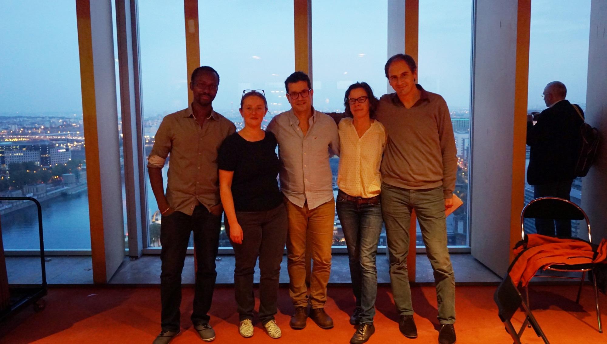Mon équipe: moi , Cécile, Mehdi, Rozenn, David