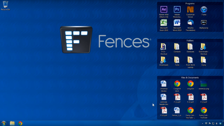 Fences : organiser votre bureau Windows