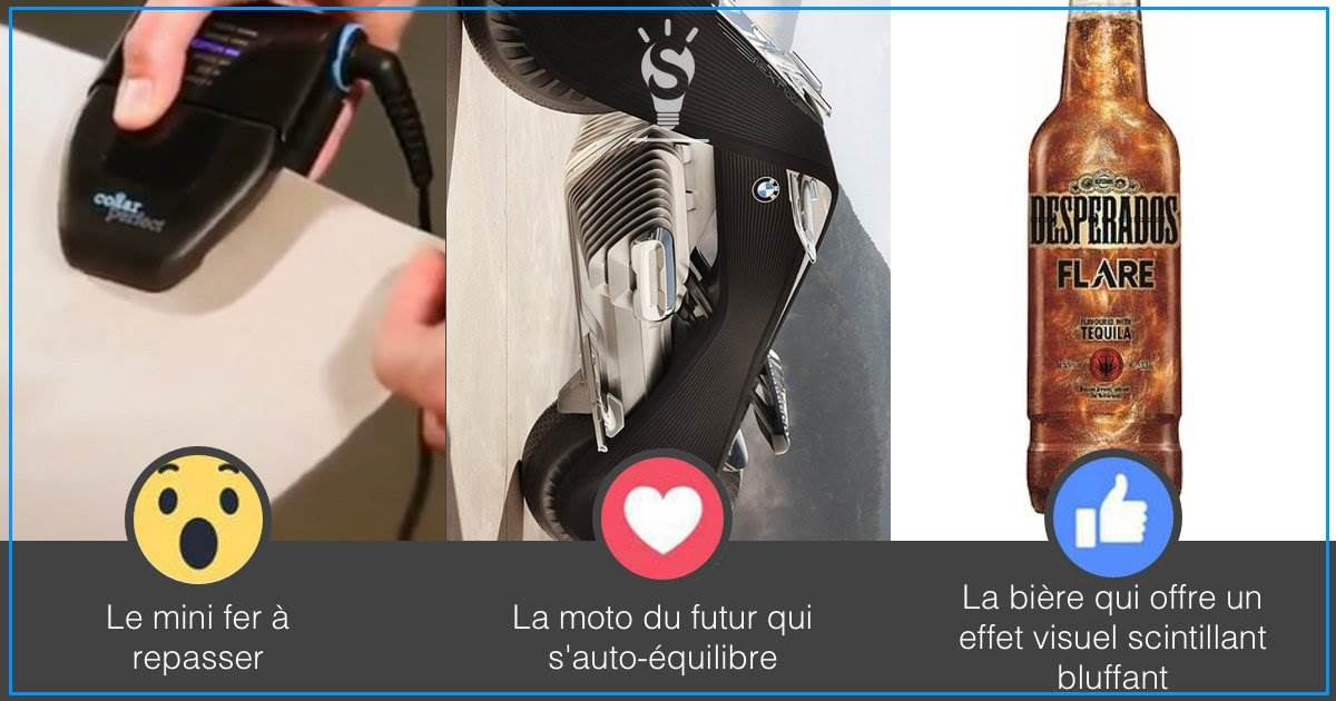 Photo of Le mini fer à repasser, la moto du futur par BMW, la bière qui scintille [#3innovations1minute]