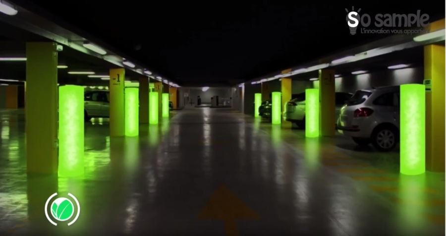 lampadaire a micro-algues