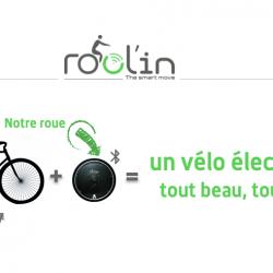 Rool'in : Votre vélo devient électrique grâce à une roue électrique amovible
