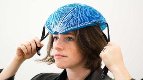 EcoHelmet : le casque vélo en carton pliable et recyclable