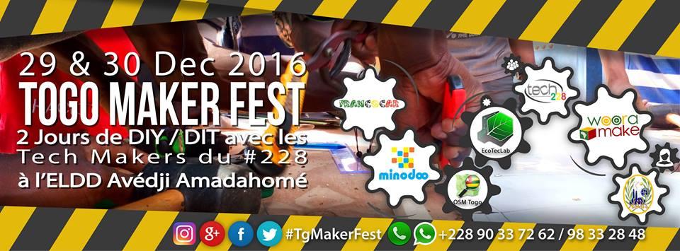 Photo of #TgTech : Togo Maker Fest 2016 les 29 et 30 Décembre