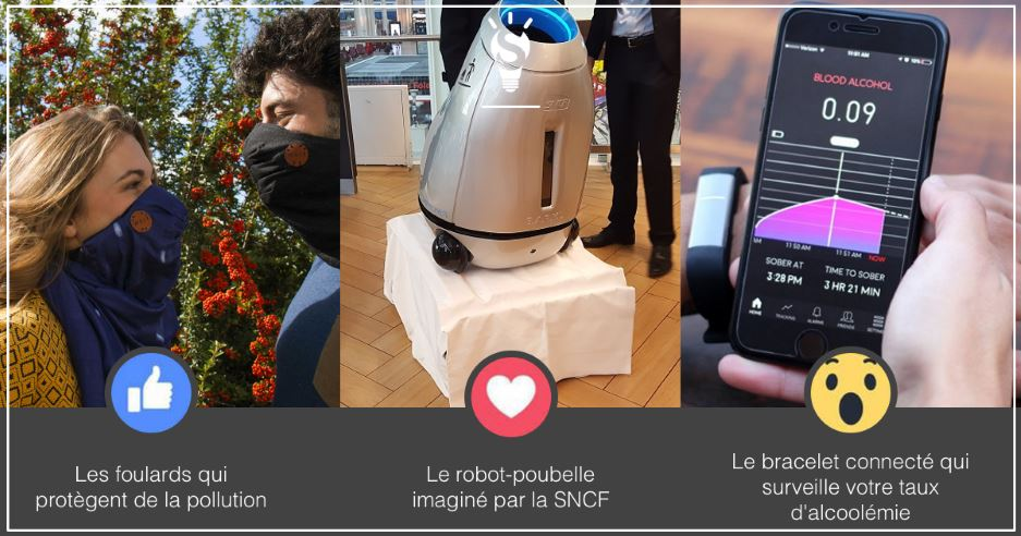 Photo of [3 innovations en 1minute] Découvrez Wair le foulard anti pollution, Baryl la poubelle mobile, Proof le bracelet qui surveille votre alcoolémie