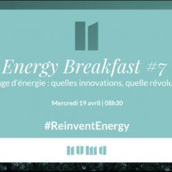 Energy Breakfast #7 – Stockage d'énergie