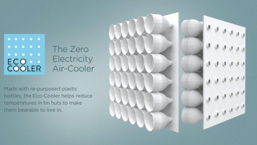 eco cooler fabriquer un climatiseur cologique avec des bouteilles en plastique geek mais. Black Bedroom Furniture Sets. Home Design Ideas