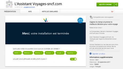 Train ou covoiturage? Comparez avec l'Assistant Voyages-sncf.com pour Chrome