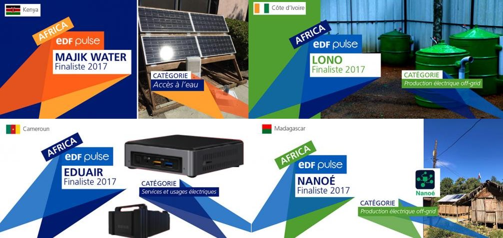 EDF Pulse Africa laureats 2017