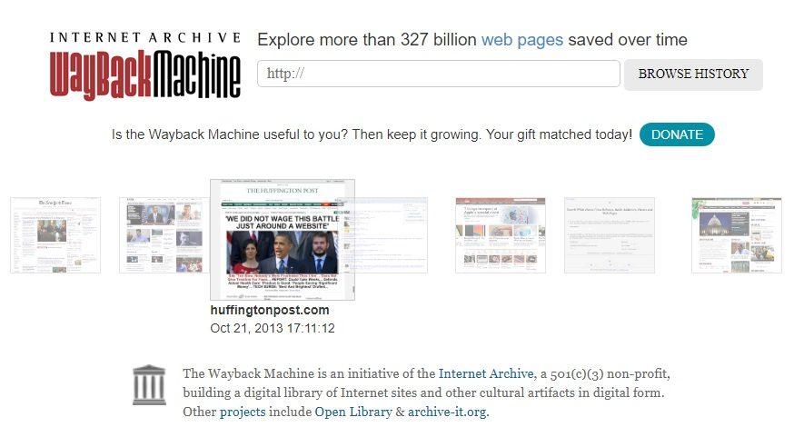 Wayback Machine : la machine à remonter le temps du Web