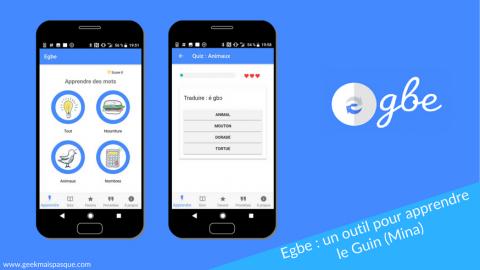 Egbe : l'application mobile pour apprendre le Guin (Mina)
