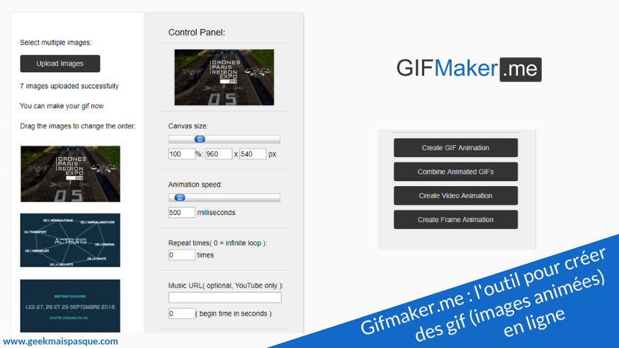 GifMaker.me : créer des gif (images animées) en ligne et en quelques clics !