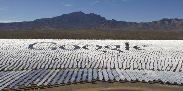 centrale solaire thermodynamique dans le désert californien