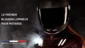 #Innovation : Un blouson moto lumineux pour plus de sécurité et de visibilité pour les motards