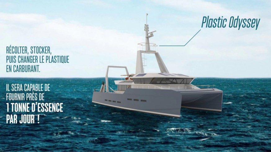 #Cleantech : Plastic odyssey, un bateau propulsé par du carburant issu du recyclage des déchets plastiques