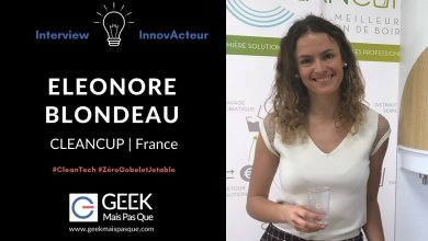 Photo of #InnovActeur : Interview de Eleonore BLONDEAU, fondatrice de CleanCup, solution « zéro gobelets jetables » professionnelle