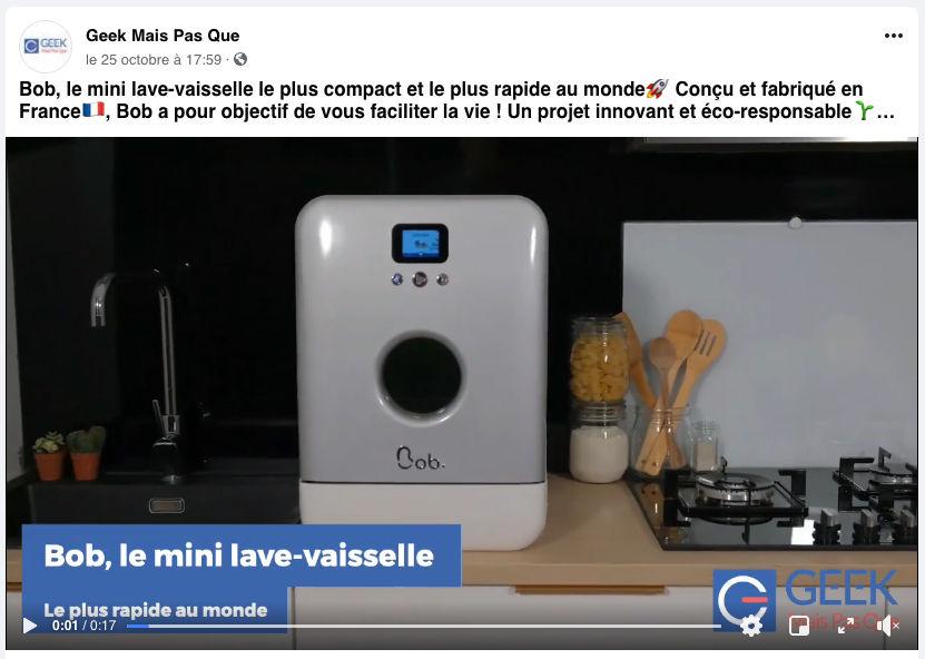 Exemple de vidéo créée avec Flexclip pour Geek Mais Pas Que