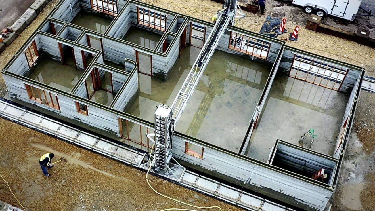 maison imprimee en 3d beton