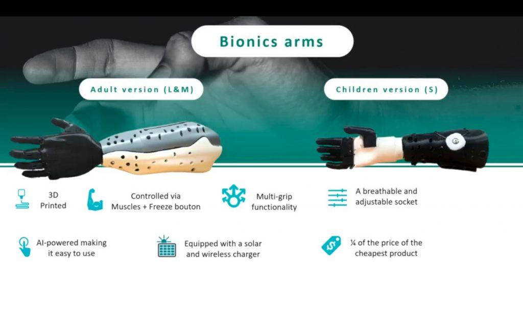 Cure Bionics : modèles adulte et enfant de main bionique